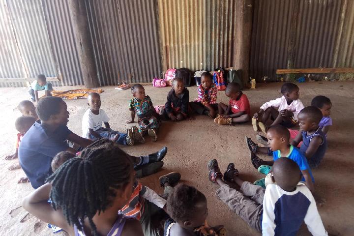 La escuela de Nkabika - Zambia