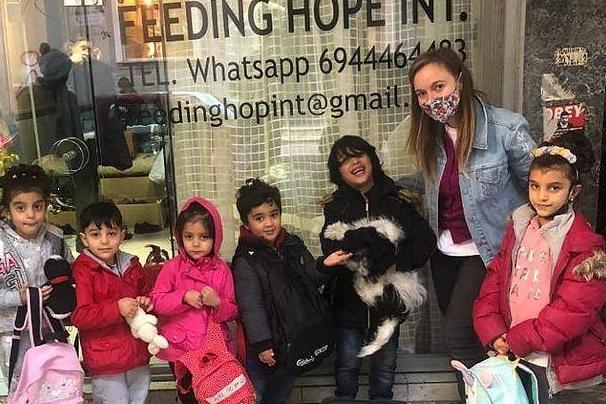 Feeding Hope in Hope Cafe Athens