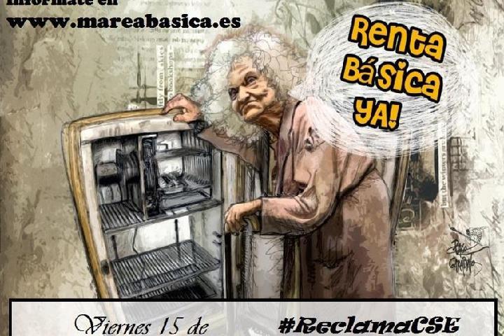 Marea Básica contra el Paro y la precariedad por una Renta Básica ya